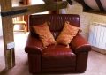 Relax in a comfortable leather armchair